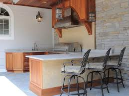 Rustic Outdoor Kitchen Ideas - l shaped outdoor kitchen ideas wooden island rustic drawers corner