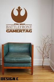 star wars battlefront personalised wall art vinyl decal sticker star wars battlefront personalised wall art vinyl decal sticker boys bedroom