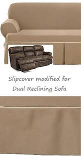 double recliner sofa slipcover reclining sofa t cushion slipcover ivory heavy suede adapted for