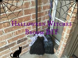 halloween witches broom front porch decor diy youtube