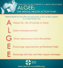 mental health first aid action plan algee mentalhealthkc org