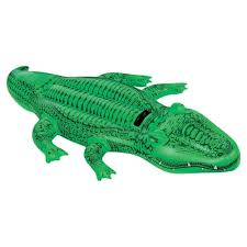 amazon com intex giant gator ride on 80