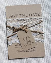 rustic save the dates lace wedding save the date save the dates rustic by loveofcreating