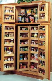Kitchen Pantry Shelving Ideas Kitchen Alluring Brown Finish Freestanding Kitchen Pantry Cabinet