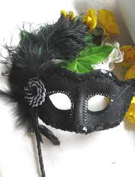 masquerade masks for sale black and white masquerade mask with handle sale item