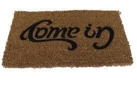 amazon com uk ambigram door mat come in go away home