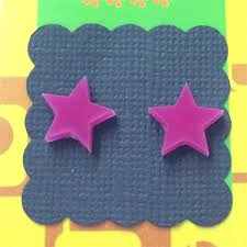 plastic stud earrings laser cut earrings acrylic perspex plastic stud retro