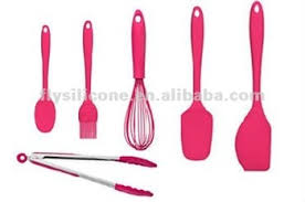 ustensile de cuisine en silicone noms de ustensiles de cuisine de haute qualité pack de 6 pcs