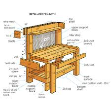 Redwood Potting Bench How To Build A Potting Bench Bench Illustrations And Gardens