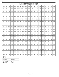 math color numbers by number worksheets kindergarten maze