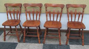 four dinah cook maple chairs