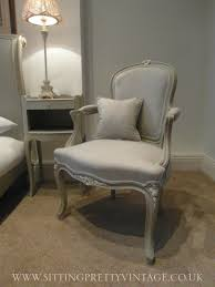 White Bedroom Chair Uk French Vintage Louis Xv Bedroom Armchair In Grey Linen And Chalk