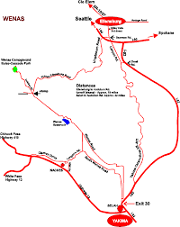 Murray State Map by Wenas Campground Directions And Maps
