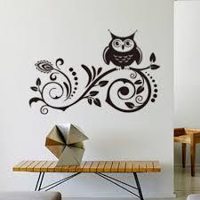 aliexpress com buy cute family owls on the branch cartoon wall