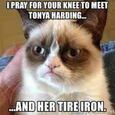 Tonya Meme - i pray for your knee to meet tonya harding and her tire iron