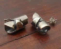 silver stud earrings uk oxidised silver stud earrings love2have in the uk