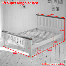 Super King Bed Size Cream Painted Rustic Oak 6ft Super King Size Bed