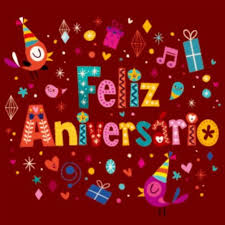 feliz aniversario portuguese happy birthday greeting card vector