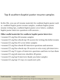Ministry Resume Template Top 8 Southern Baptist Pastor Resume Samples 1 638 Jpg Cb U003d1437642733