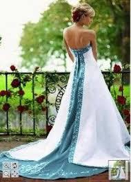 teal wedding dresses white and teal wedding dress obniiis