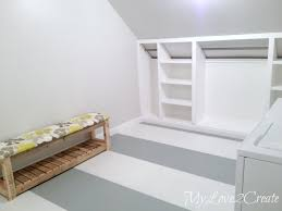 Bedroom With Knee Wall Slanted Wall Built Ins With Hidden Storage My Love 2 Create