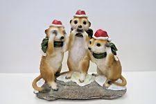 meerkat garden statues lawn ornaments ebay