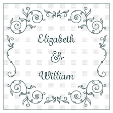 Wedding Invitation Cards Download Free Wedding Invitation Card Template With Floral Frame Vector Image