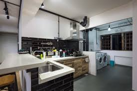 hdb 5 room resale industrial design open kitchen concept bayti