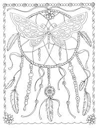 dreamcatcher butterfly dream doodles and tangles coloring book