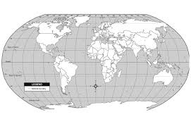 Blank World Map by Online Maps May 2012