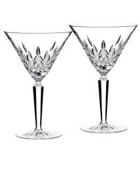 waterford stemware lismore martini glasses set of 2 bar wine