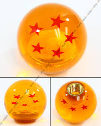dragon ball z 5 stars round manual shift knob for mitsubishi evo
