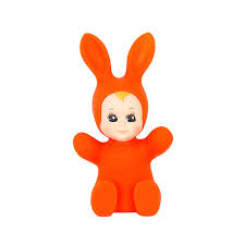bunny baby lamp fluo red goodnight light