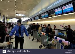 newark usa 26th oct 2015 passengers wait to check in for the