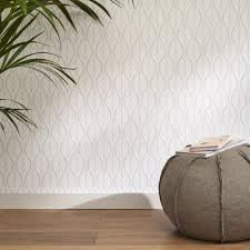 papier peint intisse chambre papier peint intisse feuille deco gris leroy merlin