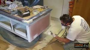 Can You Spray Paint Kitchen Cabinets by Paint Spraying Kitchen Cabinets Siematic Kitchen Refinishing
