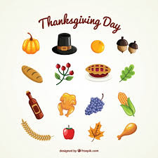 thanksgiving day collection vector free
