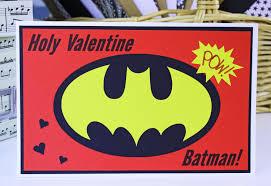 batman valentines holy batman card boys card
