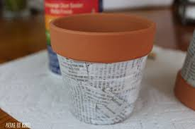 Cute Flower Pots by Easy Newspaper Flower Pots