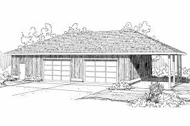Garage With Carport Traditional House Plans 4 Car Garage 20 066 Associated Designs