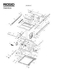 Ridgid Table Saw Parts Ridgid Ts2410ls Figure A Table Saw Parts
