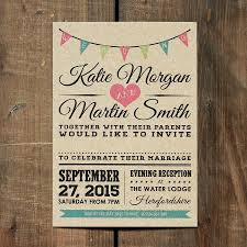 vintage bunting kraft wedding invitation by feel good wedding