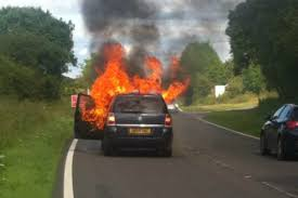 vauxhall zafira fire fears dvsa safety body says investigation is