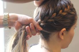 hair braided into pony tail collections of how to braid hair into ponytail cute hairstyles