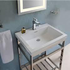 bathroom vanities stainless steel south beach 24 u0027 u0027 vanity