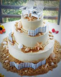 how to choose the right wedding cakes for beach wedding the