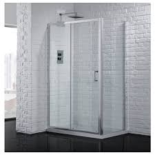 1000mm polished silver 6mm sliding shower door