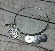 personalized in loving memory gifts memorial adjustable bangle customized jewelry personalized