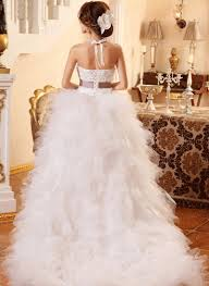 aliexpress com buy high low wedding dress asymmetrical strapless