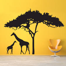 Tree Wall Decals Nursery by What Could Be Sweeter Than A Mother Giraffe And Her Baby To